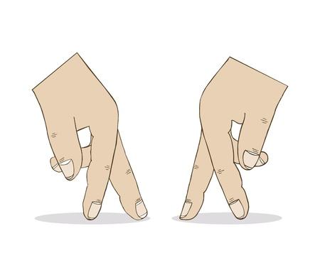 Twee Handen Stock Illustratie