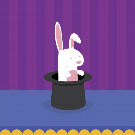 Rabbit in Magician s Hat Stock Vector - 15854444