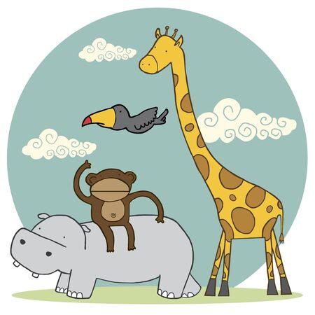 Group of Animals Ilustracja
