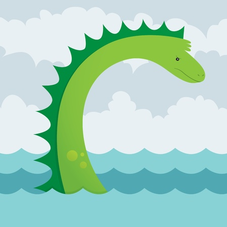 A vector illustration of an angry yet cute sea serpent  This is an Ai 10 file that contains gradients but does not contain any transparencies or blends  Stock Vector - 21027964