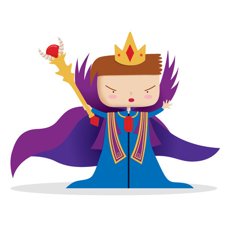 scepter: A young king ruling with a scepter  Illustration