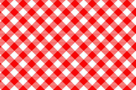 Red Gingham pattern. Texture from rhombus/squares for - plaid, tablecloths, clothes, shirts, dresses, paper, bedding, blankets, quilts and other textile products. Vector illustration. Illustration