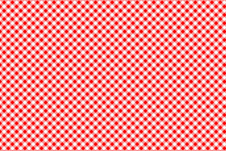 Red Gingham pattern. Texture from rhombus/squares for - plaid, tablecloths, clothes, shirts, dresses, paper, bedding, blankets, quilts and other textile products. Vector illustration. Ilustracja