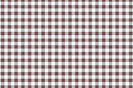 Red diagonal Gingham pattern. Texture from rhombus/squares for - plaid, tablecloths, clothes, shirts, dresses, paper, bedding, blankets, quilts and other textile products. Vector illustration.