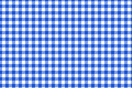 Blue and white tablecloth pattern, Texture from rhombus/squares for - plaid, tablecloths, clothes, shirts, dresses, paper, blankets and other textile products. Vector illustration.