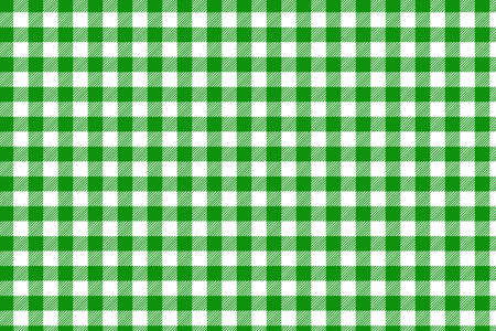 Green horizontal Gingham pattern. Texture from rhombus/squares for - plaid, tablecloths, clothes, shirts, dresses, paper, bedding, blankets, quilts and other textile products Ilustração Vetorial