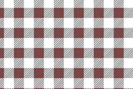 Motif Vichy en diagonale rouge. Texture de losange/carrés pour - plaid, nappes, vêtements, chemises, robes, papier, literie, couvertures, couettes et autres produits textiles. Illustration vectorielle.
