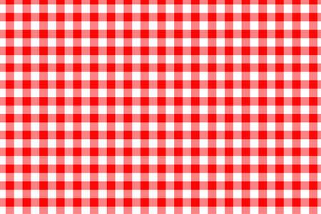 Nahtloses Muster des roten Gingham. Textur aus Rauten / Quadraten für - Plaid, Tischdecken, Kleidung, Hemden, Kleider, Papier, Bettwäsche, Decken, Quilts und andere Textilprodukte. Vektorillustration.