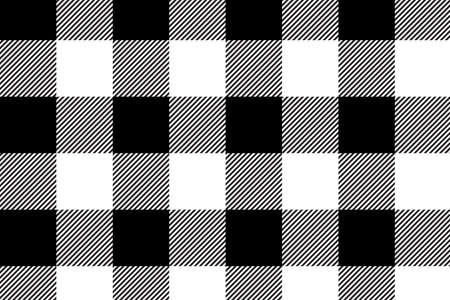 Black gingham pattern. Texture from rhombus/squares for - plaid, tablecloths, clothes, shirts, dresses, paper, bedding, blankets, quilts and other textile products.Vector illustration.EPS-10. 스톡 콘텐츠 - 122006699