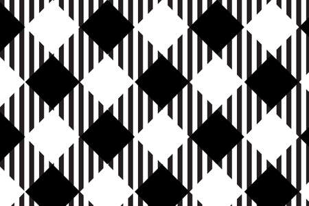 Black gingham pattern. Texture from rhombus/squares for - plaid, tablecloths, clothes, shirts, dresses, paper, bedding, blankets, quilts and other textile products.Vector illustration.EPS-10.