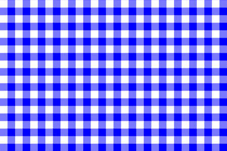 Blue Gingham pattern. Texture from rhombus/squares for - plaid, tablecloths, clothes, shirts, dresses, paper, bedding, blankets, quilts and other textile products. Vector illustration EPS 10