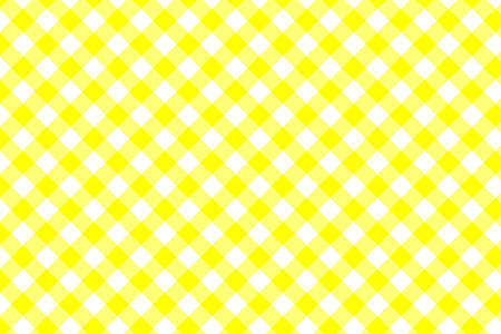 Yellow Gingham pattern. Texture from rhombus/squares for - plaid, tablecloths, clothes, shirts, dresses, paper, bedding, blankets, quilts and other textile products. Vector illustration EPS 10