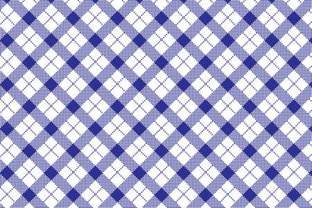 Gingham pattern. Texture from rhombus/squares for - plaid, tablecloths, clothes, shirts, dresses, paper, bedding, blankets, quilts and other textile products. Vector illustration EPS 10