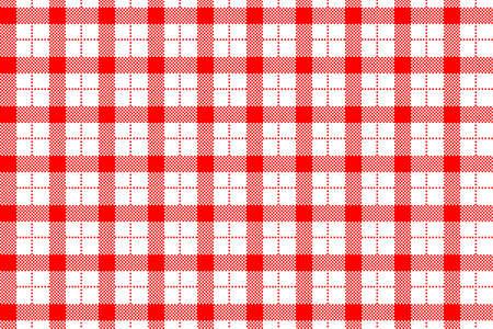 Gingham-Muster. Textur aus Rauten/Quadraten für - Plaid, Tischdecken, Kleidung, Hemden, Kleider, Papier, Bettzeug, Decken, Steppdecken und andere Textilprodukte. Vektor-Illustration EPS 10