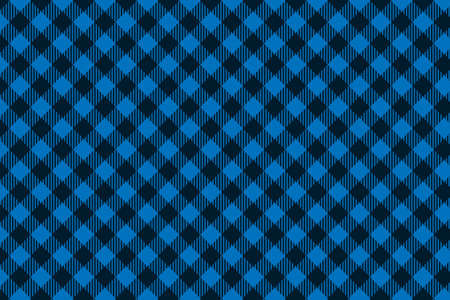Blue Black Lumberjack plaid seamless pattern. Texture for - plaid, tablecloths, clothes, shirts, dresses, paper, bedding, blankets, quilts and other textile products. Vector illustration.