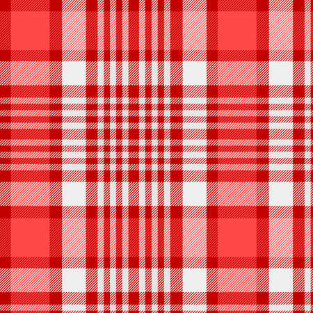 Pattern in  and White . Texture for plaid, tablecloths, clothes, shirts, dresses, paper, bedding, blankets, quilts and other textile products. Vector illustration Illustration