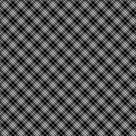 Tartan Pattern in Black and White . Texture for plaid, tablecloths, clothes, shirts, dresses, paper, bedding, blankets, quilts and other textile products. Illustration