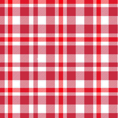 Tartan, Red and White plaid pattern. Texture for plaid, tablecloths, clothes, shirts, dresses, paper, bedding, blankets, quilts and other textile products.