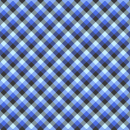 Gingham seamless blue pattern. Texture for plaid, tablecloths, clothes, shirts,dresses,paper,bedding,blankets,quilts and other textile products. Vector Illustration 일러스트