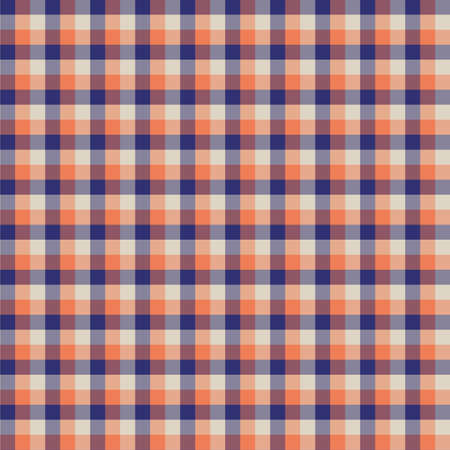 Gingham seamless orange pattern. Texture for plaid, tablecloths, clothes, shirts,dresses,paper,bedding,blankets,quilts and other textile products. Vector Illustration