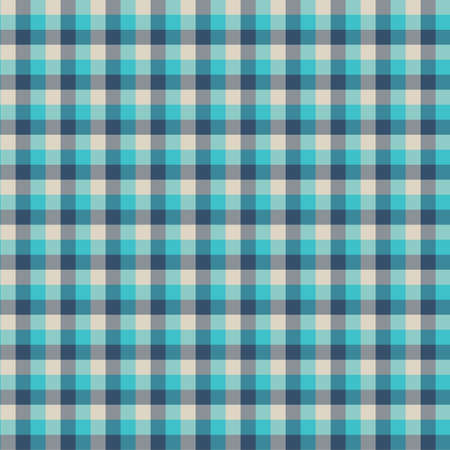 Gingham seamless cyan pattern. Texture for plaid, tablecloths, clothes, shirts,dresses,paper,bedding,blankets,quilts and other textile products. Vector Illustration