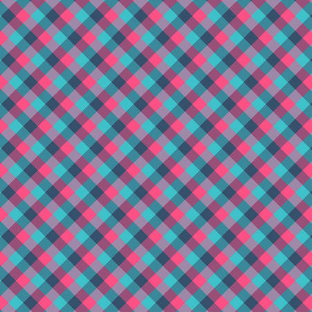 Gingham seamless cyan and red pattern. Texture for plaid, tablecloths, clothes, shirts,dresses,paper,bedding,blankets,quilts and other textile products. Vector Illustration