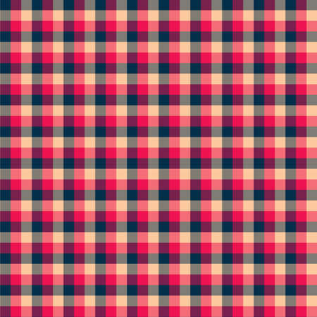 Gingham seamless red and black pattern. Texture for plaid, tablecloths, clothes, shirts,dresses,paper,bedding,blankets,quilts and other textile products. Vector Illustration