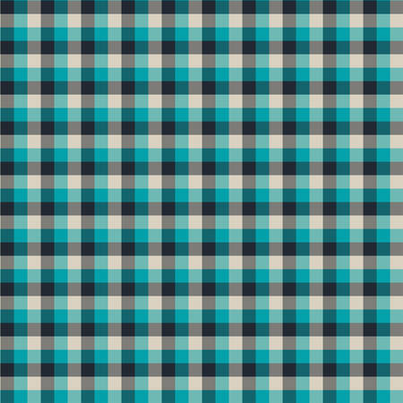 Gingham seamless cyan and black pattern. Texture for plaid, tablecloths, clothes, shirts,dresses,paper,bedding,blankets,quilts and other textile products. Vector Illustration 일러스트