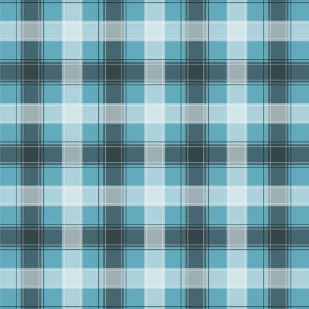 Light blue Gingham pattern. Texture from squares for - plaid, tablecloths, clothes, shirts, dresses, paper, bedding, blankets, quilts and other textile products. Vector illustration