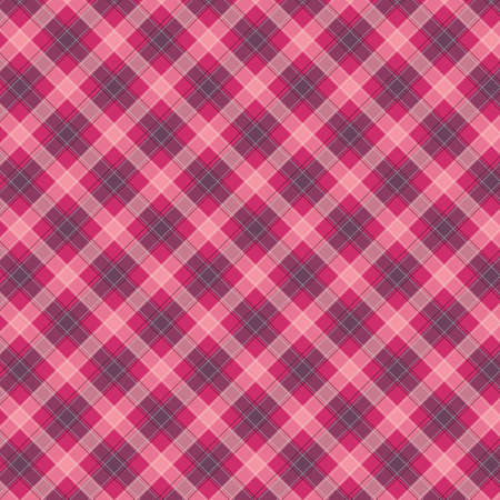 Rosa Gingham pattern. Texture from squares for - plaid, tablecloths, clothes, shirts, dresses, paper, bedding, blankets, quilts and other textile products. Vector illustration 写真素材