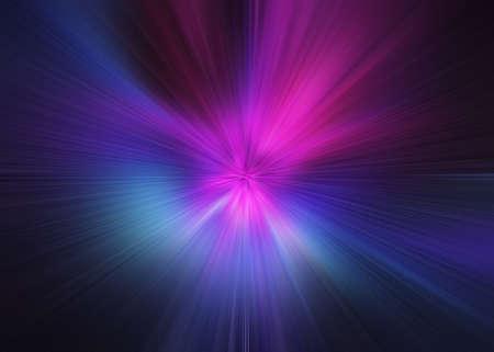 Stella di esplosione di luce con particelle e linee luminose. Bello fondo astratto dei raggi. Archivio Fotografico