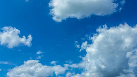 Beautiful blue sky with white cloud.