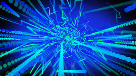 Abstract 3d rendering glowing lines background.