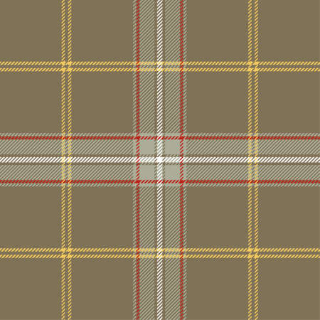 Tartan Pattern in Brown and Gray. Ilustrace
