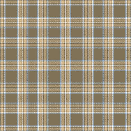 Tartan Pattern in Brown and Blue. Ilustrace