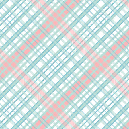 Tartan Pattern in Red and Cyan. Ilustrace