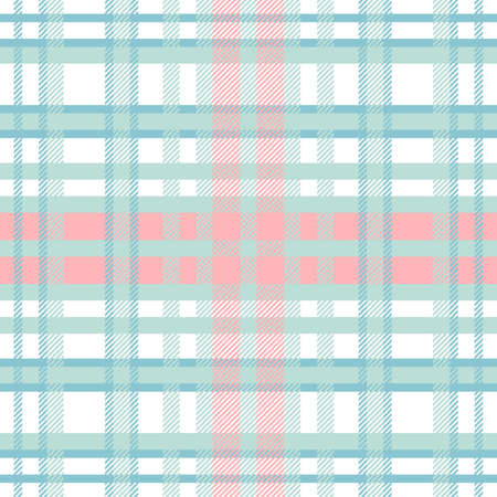 Tartan Pattern in Red and Cyan. Texture for plaid, tablecloths, clothes, shirts, dresses, paper, bedding, blankets, quilts and other textile products.  イラスト・ベクター素材