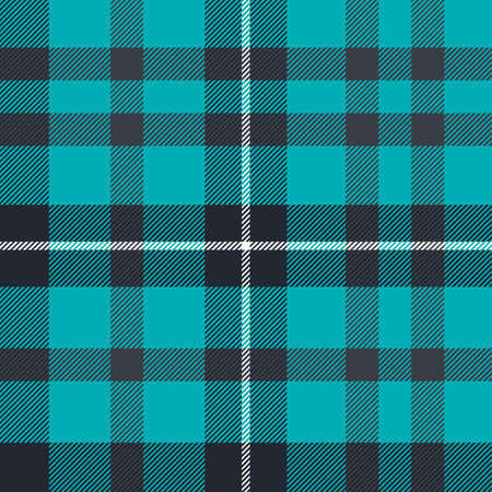 Tartan Pattern in Blue and Black. Texture for plaid, tablecloths, clothes, shirts, dresses, paper, bedding, blankets, quilts and other textile products.  イラスト・ベクター素材