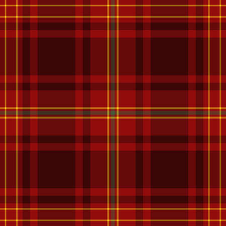 Tartan Pattern in Red and Yellow. Texture for plaid, tablecloths, clothes, shirts, dresses, paper, bedding, blankets, quilts and other textile products.  イラスト・ベクター素材