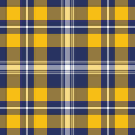 Tartan Pattern in Blue and Orange. Texture for plaid, tablecloths, clothes, shirts, dresses, paper, bedding, blankets, quilts and other textile products.  イラスト・ベクター素材