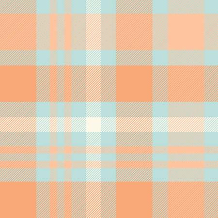 Tartan Pattern in Blue and Orange.