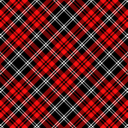 Tartan Pattern in Red and White.