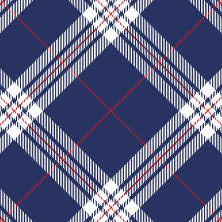 Tartan Pattern in Blue and White. 向量圖像