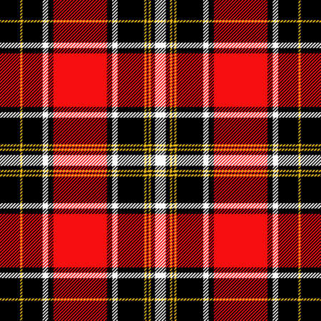 Tartan Pattern in Red, White and Yellow.
