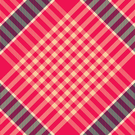 Tartan Pattern in Blue and Red. 向量圖像