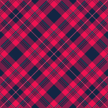 Tartan Pattern in Blue and Pink