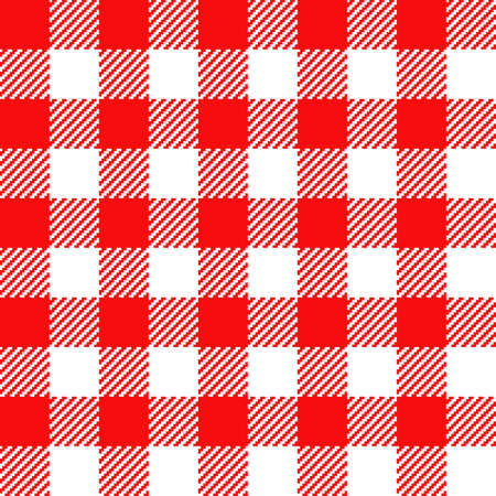 Red Gingham seamless pattern. Texture from rhombus/squares for - plaid, tablecloths, clothes, shirts, dresses, paper, bedding, blankets, quilts and other textile products. Standard-Bild - 133678428
