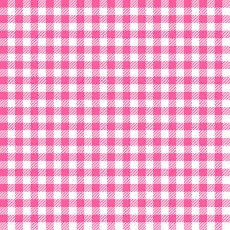 Pink Gingham seamless pattern. Texture from rhombus/squares for - plaid, tablecloths, clothes, shirts, dresses, paper, bedding, blankets, quilts and other textile products. Standard-Bild - 133678426