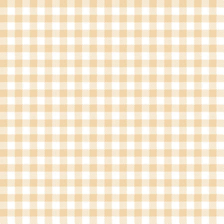 Yellow Gingham seamless pattern. Texture from rhombus/squares for - plaid, tablecloths, clothes, shirts, dresses, paper, bedding, blankets, quilts and other textile products. Standard-Bild - 133678431