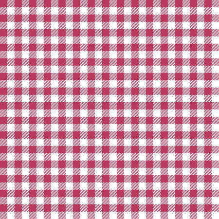Red Gingham seamless pattern. Texture from rhombus/squares for - plaid, tablecloths, clothes, shirts, dresses, paper, bedding, blankets, quilts and other textile products. Standard-Bild - 133678433